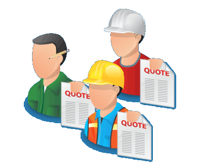 Tradesmen holding a quote